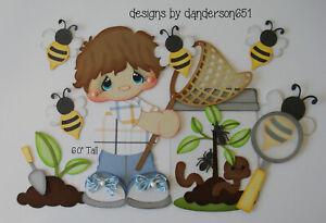 Bugs Bees BoYs KiDs PreMade Paper Piecing Die Cut Scrapbook Border danderson651