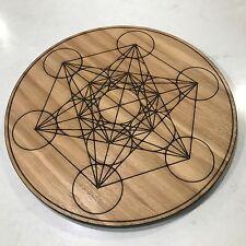 30cm Metatron Cube Crystal Board. Oak Veneer. Sacred Geometry Crystal Grid