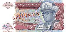 Zaire 50.000 Zaires 1991 Unc Pn 40s Specimen