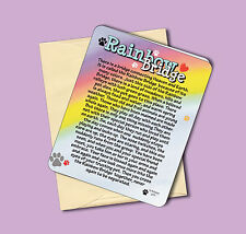 """Rainbow Bridge"" Poem - Pet Memorial Sympathy Greeting Card-Blank Inside-Sku#977"