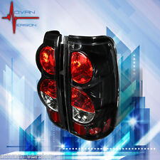 1999-2006 Chevy Silverado Tail Lights Glossy Black Rear Lamps PAIR
