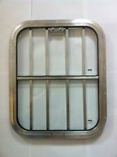 Horsebox Window 18 x 22 Half Drop + Bars Mill & Clear