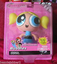 Vintage Powerpuff Girls Bubbles Cartoon Network Talking Bobbing Bobble Head  New