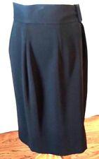 NEW Liz Claiborne Black Skirt with Belt Buckle Waist Band Size 8 NWOT