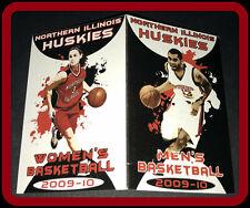 2009-10 NORTHERN ILLINOIS HUSKIES MENS & WOMEN'S BASKETBALL POCKET SCHEDULE