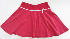 Red A-line Skirt with Silver Hearts Size 6 Handmade Great 4 Valentine's Day