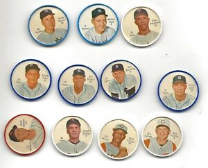 Lot of 11 1962 Salada  Baseball Coins - Ford, Howser, Boyer  Cash Bunning Pinson