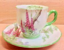 "Royal Albert Countess Shape ""Foxglove"" Pattern Demitasse Coffee Cup & Saucer."