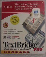 Xerox TextBridge Pro Upgrade New For Windows 95, NT & 3.1 Includes Microsoft...
