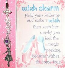 BALLERINA Make A Wish Charm Poem Card Cell Phone Strap Keyring Keychain Ballet