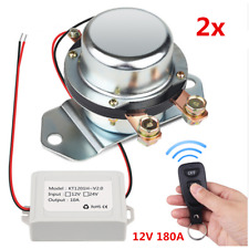 12V 180A Car Battery Switch Manual Disconnect Latching Relay+2Pcs Remote Control