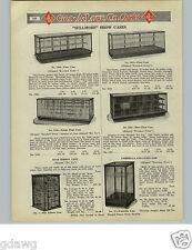1925 PAPER AD Cane Umbrella Store Display Case Cabinet Showcase