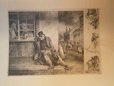 Planche gravure Pity the sorrows of a poor old man  Par  Géricault