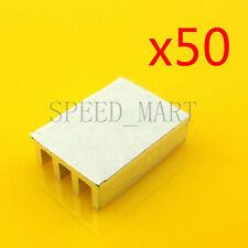 50 PCS Heat Sink with Thermal Adhesive for Computer CPU Memory Chip IC 16*11*5mm