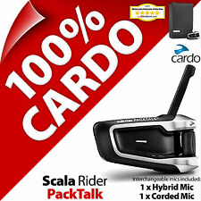 Nuevo Cardo Scala Rider PackTalk Bluetooth Casco de Motocicleta Intercomunicador Auriculares