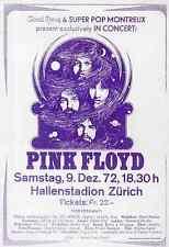 PINK FLOYD REPRO 1972 ZURICH 9 DECEMBER CONCERT POSTER . NOT CD DVD
