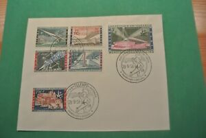 First Day Cover Belgium 1958 Stamp