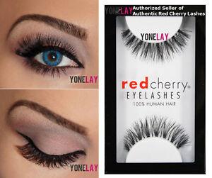 Lot 3 Pairs AUTHENTIC RED CHERRY #523 Sage Human Hair False Eyelashes Eye Lashes