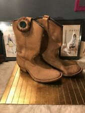 UNISEX Red Wings  Western Boots MANS  7.5 WOMENS  9 Brown Leather Boots