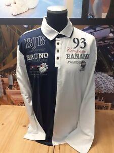 BRUNO BANANI   Herren Polo Shirt   Not For Everybody   BBP7   weiß-navy   XXL