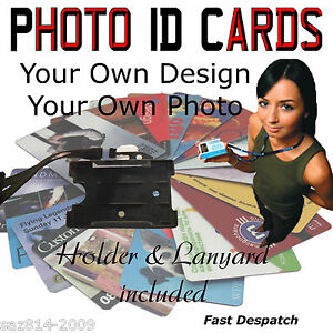 Photo ID Cards | Custom made | Includes Lanyard and Card Holder  | Free P&P