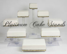 8 TIER SQUARE CASCADE WEDDING CAKE STAND CUPCAKE STAND (STYLE SQ845)