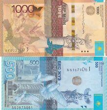KAZAKHSTAN SET,2014/2017.1000/500 TENGE,P-NEW/P-45a,UNC BANKNOTES..(AV)