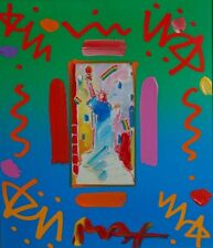 Peter Max, Statue of Liberty (Framed Original Painting)