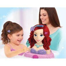 Disney Princess Little Mermaid Ariel Bath Hair Styling Model Head Girls 3+ Toy
