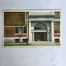Doorway and Tablet Peace Conference Building Portsmouth Navy Yard Postcard