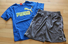 Boys * Puma * 2 Pc Set ~ Short Sleeve Tee & Athletic Shorts ~ Euc ~ Size S