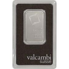 1 oz. Platinum Bar - Valcambi Suisse - 999.5 Fine in Assay