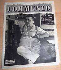 SETTIMANALE ILLUSTRATO PER TUTTI   COMMENTO  N°  35 1947  ORIGINALE !!!