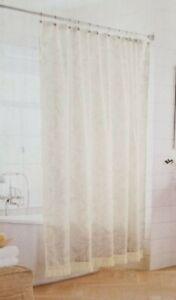 "Threshold Gray Floral Fabric Shower Curtain 72"" x 72"" NIP"