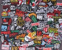 RANDOM 40 pcs Iron on Patch Music heavy Metal Rock n roll Band Sew Embroidered