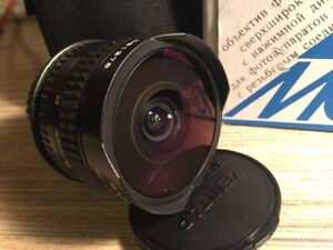Fisheye Zenitar M 2.8/16mm lens for Canon...№ 081378