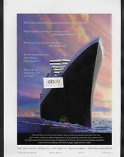 CUNARD LINE 2004 CAN YOU WAIT? THE NEW QUEEN MARY 2 TWO-4 PAGE MAIDEN VOYAGE AD