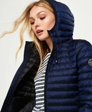 Superdry Women's Core Down Jacket Dark Navy Size S Uk.