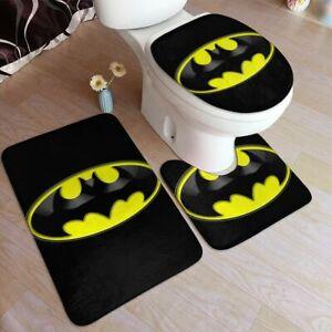 Batman Super Hero 3pcs Bathroom Rug Set 50*80 cm Bath Mat Home Decor Funny Gifts