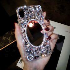 Girl'S Mirror Handmade Bling Crystal Diamond Shiny Glitter Sparkly Phone Case