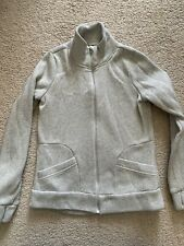 Girls Old Navy Active Size XL 14 Long Sleeve Zip Up Jacket Solid Gray, polyester