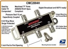 4-way Coaxial Splitter Cable TV HD High Performance Signal  ANTRONIX CMC2004H