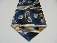 ROBERT DASKAL - ABSTRACT PATTERNED - HAND PAINTED - 100% SILK NECK TIE!