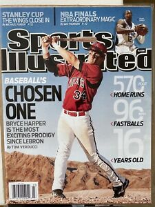 Bryce Harper sports illustrated 6-8-09  Clean, No Label