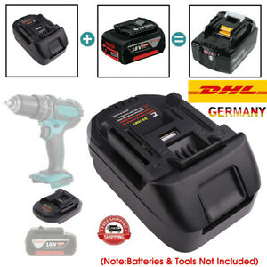 Battery Adapter für Bosch 18V Akku Konvertieren zu Makita 18V Batterieadapter DE