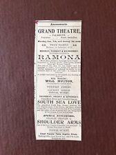 B8c Ephemera 1929 Advert Falmouth Grand Theatre Will Mutton Charlie Chaplin