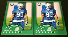 2002 Topps #316 Dwight Freeney Base RC Syracuse Colts (Lot Of 2)