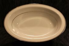 Zylstra Silver Ecstasy Oval Bowl Select Fine China (Made In Japan)