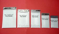 10 Poly Bubble Postal Mailing Envelope VARIETY PACK ~ 5 Sizes ~ Padded Mailers