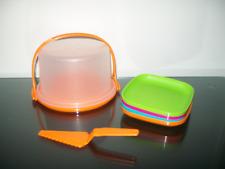 Tupperware Mini Party Play Set Cake Taker Carrier Plates Rare New NLA NIP